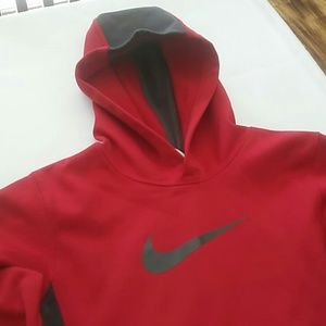 Nike Boys  Red and Gray pull Over Sweater. Smal